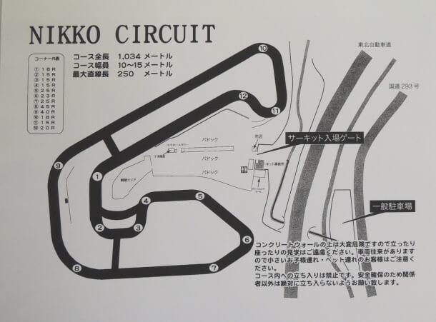 日光サーキット コース
