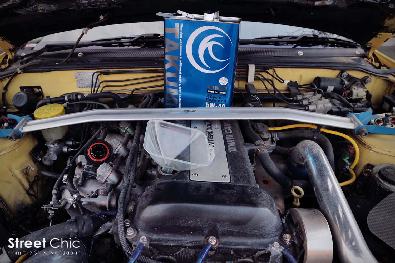 SRエンジンのオイル交換DIY