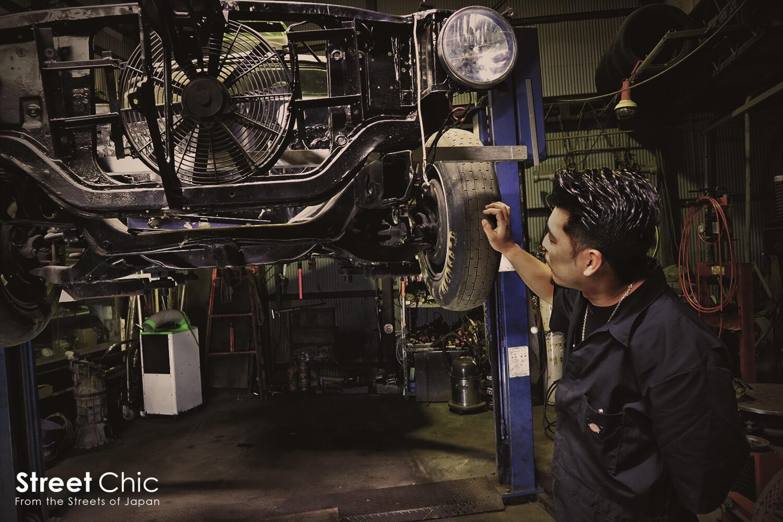 アートエンジンのドラッグマシン製作現場にお邪魔