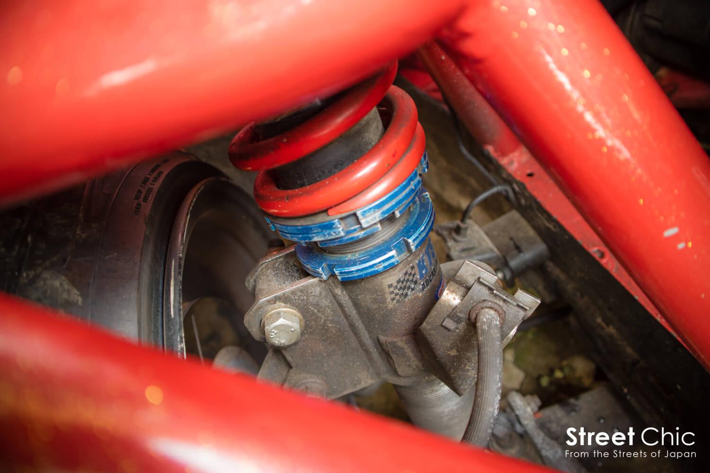 S13シルビアQ'S、パイプフレーム、ワイヤータック