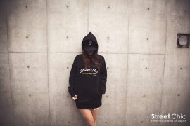"StreetChic ""Crew"" HOODIE [BLACK] [GRAY] [BLUE] [RED] [PINK]"