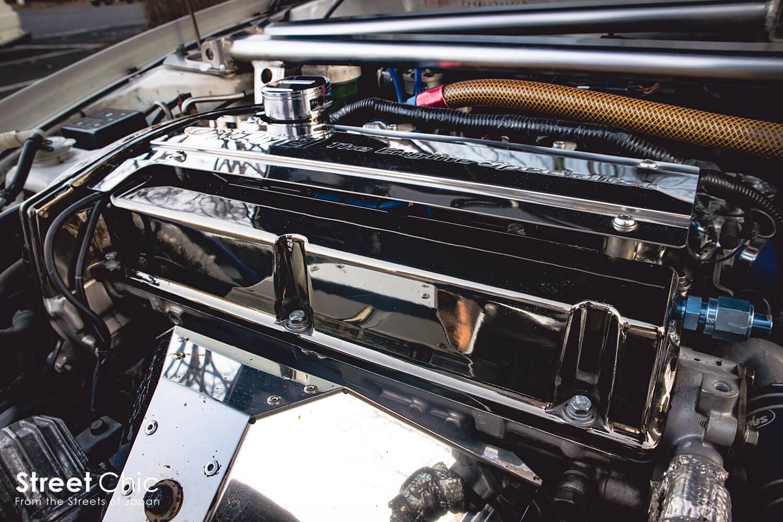フルチューンのランエボ、2.2L、バリス特注ワイドボディ