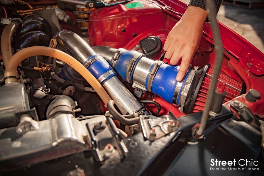 7台のシルビアで、SR20エンジンを見比べ!!タービン交換車からNAまで、それぞれの違いをチェック!!