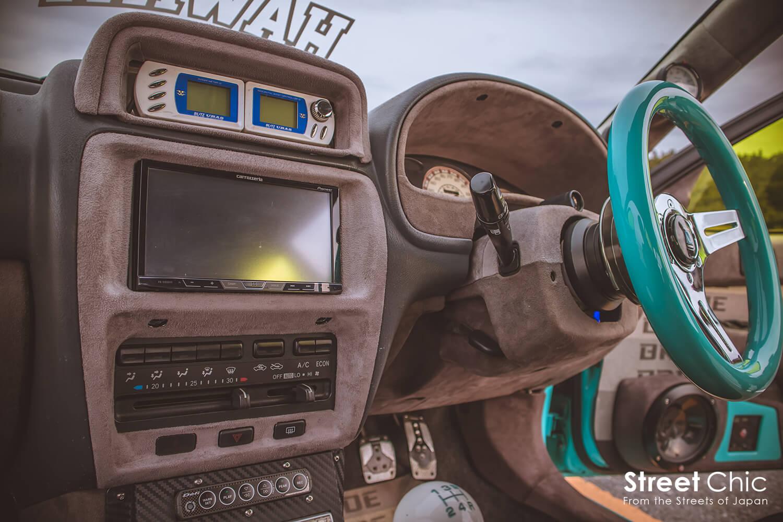 バッドフェイスのスターレットEP91!!スタンス系では珍しい車種でオンリーワンカスタム