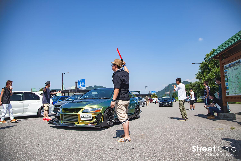 ランエボ、インプレッサが長野で合同ツーリング!!エボインプ合同志賀高原ツーリングオフ