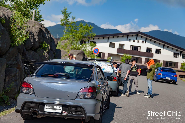 ランエボ、インプレッサのカスタムカーが長野でツーリング!!