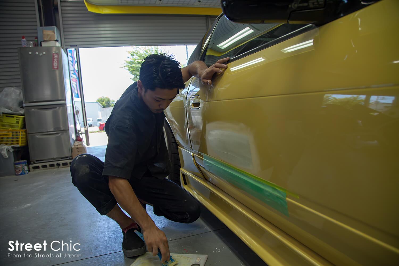ドアパンチ、エクボの修理が1万円とお得過ぎる板金修理!!埼玉J,beat