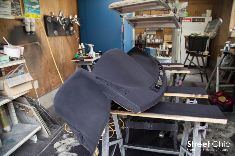 フロッキー塗装、植毛塗装に挑戦!!180sxのダッシュボード