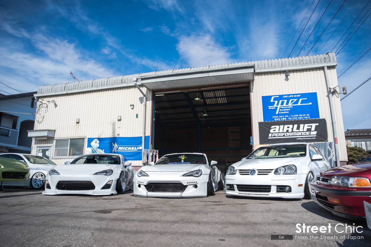 AirLiftエアサス、栃木のSpec. Car life shop