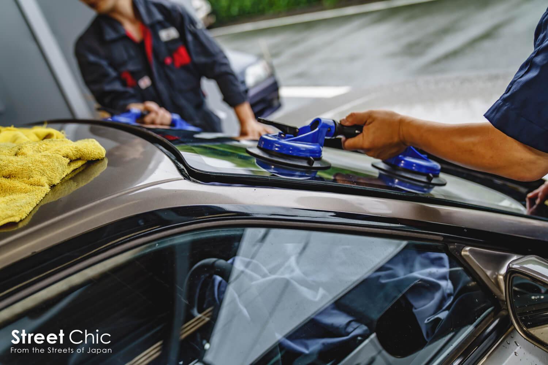 デモカーの180sxリメイク開始、イシカワボディのフェンダー取り付け